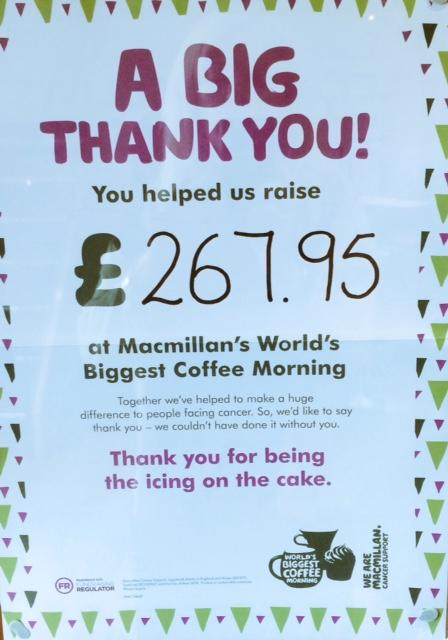 Macmillan Charity Coffee Morning